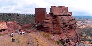 Interior del castillo de Peracense. A 41 km de Albarracín.