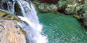 Cascada del molino de San Pedro en El Vallecillo. A 36 km de Albarracín.