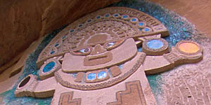 Escultura del Peruano en Pozondón. A 20 km de Albarracín.