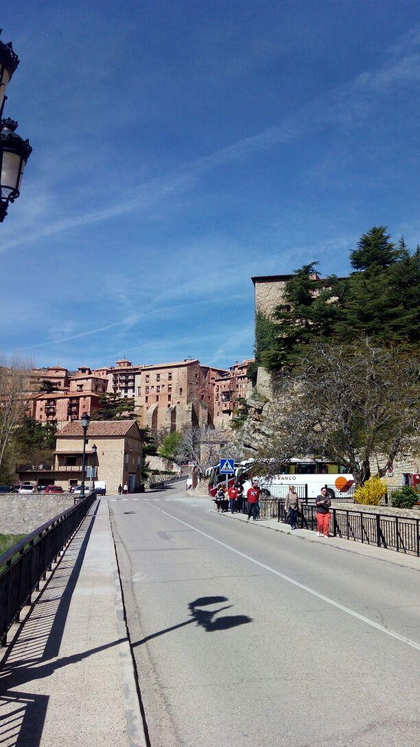 Llegan nuestros primeros amigos a conocer Albarracín