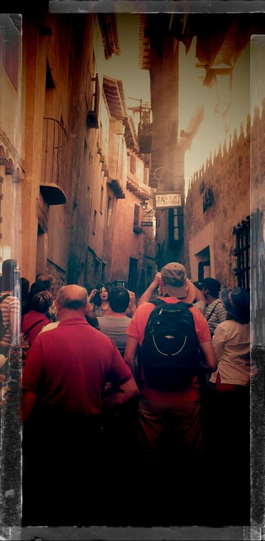 #Mañana de grupos y horarios en #Albarracin #Teruel con #VisitasGuiadas