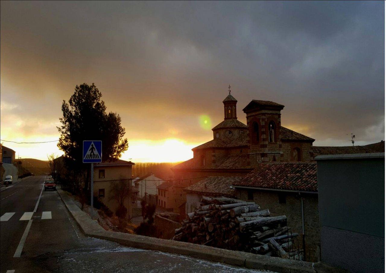 #Nevado #amanecer en la #SierraDeAlbarracin