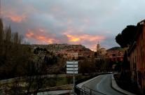 #Atardecer en #Albarracin #FinDeSemana #HogueraSanAnton