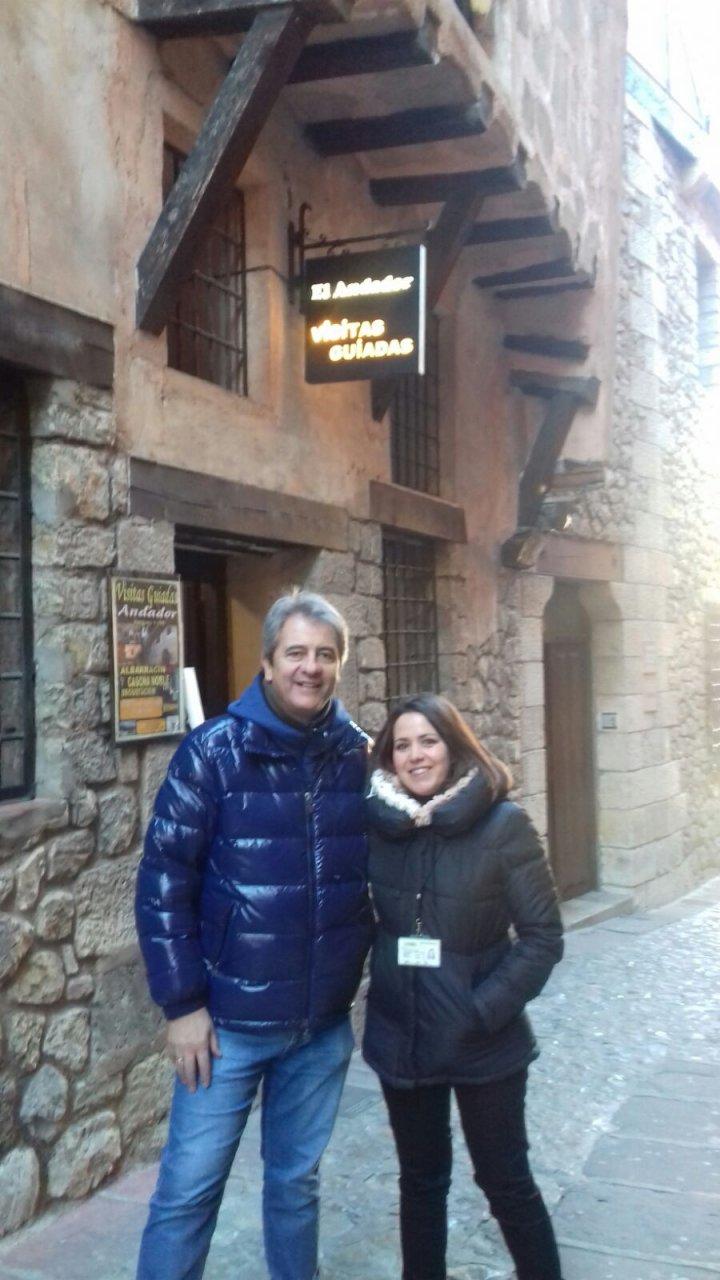 Manolo Lama nos acompaña en Andador Visitas Guiada #Albarracín
