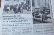 En Diario de Teruel…De VISITA GUIADA con el VICTORIA DÍEZ…GRACIAS!