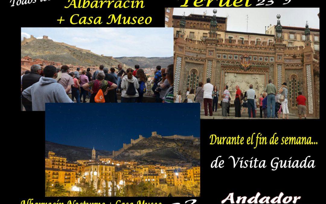 Este fin de semana…disfruta de diferentes visitas guiadas…Albarracín, Albarracín Entre 2 Luces y Teruel. Te esperamos!