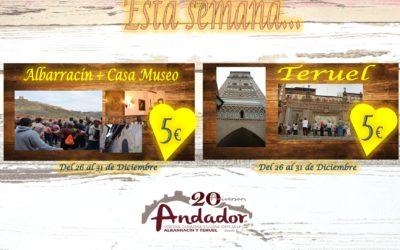 Del 26 al 31 de Diciembre…Visitas Guiadas en Albarracín y Teruel!