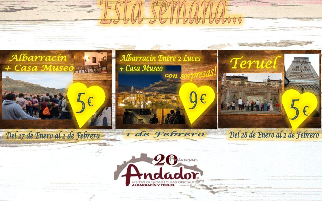 Esta semana…planes para Albarracín y Teruel! Te esperamos!