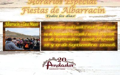 Horarios de Visitas Guiadas Albarracín durante las Fiestas Patronales – 13 al 17 de Septiembre