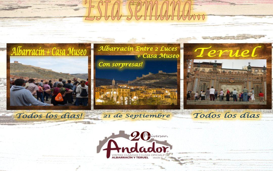 Esta semana…Albarracín y Teruel, todos los días y el sábado por la tarde…Albarracín Entre 2 Luces!!