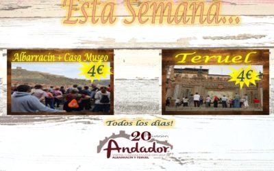 Esta semana…planes para Albarracín y Teruel…te esperamos!