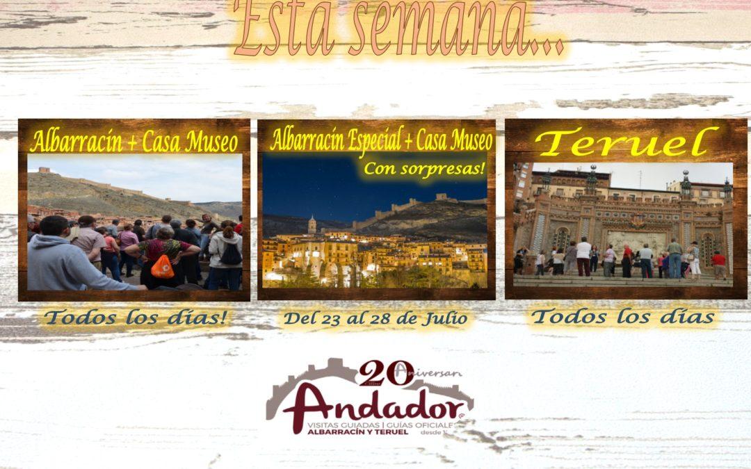 Esta semana…Albarracín, Teruel y….Albarracín Nocturno del 23 al 28 de Julio!