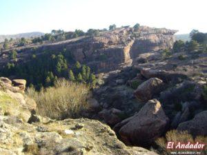 Viseras areniscas de la ruta del Cabrerizo en Albarracín