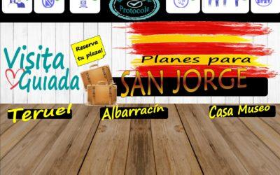Planes para Puente de San Jorge en Albarracín y Teruel! Aforos muy reducidos!