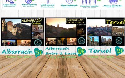 Puente del PILAR con planes de Visita Guiada en Albarracín, Teruel y Albarracín Entre 2 Luces!
