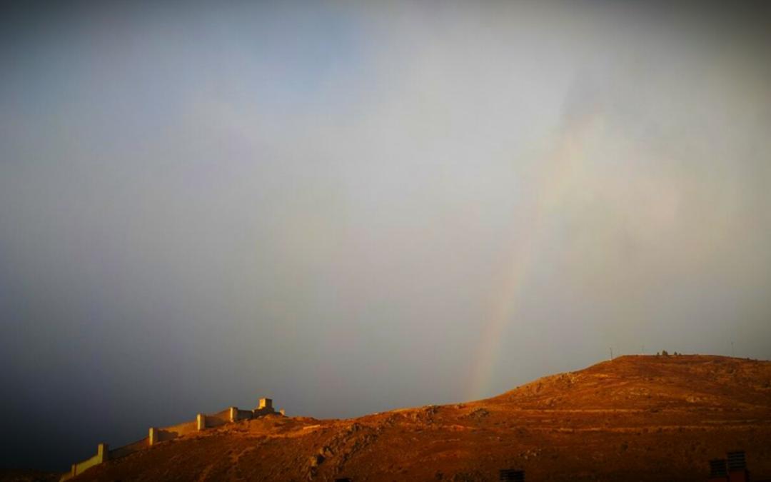 El #Arcoiris de #Albarracin nos da los #buenosdías