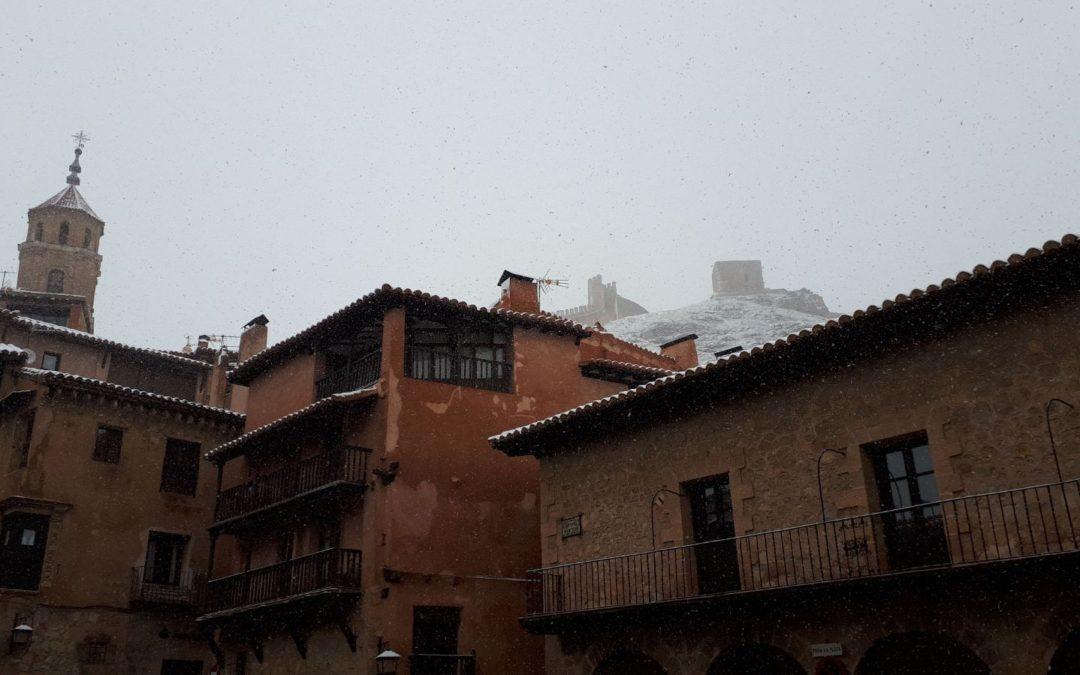 Nieve de primavera en Albarracín