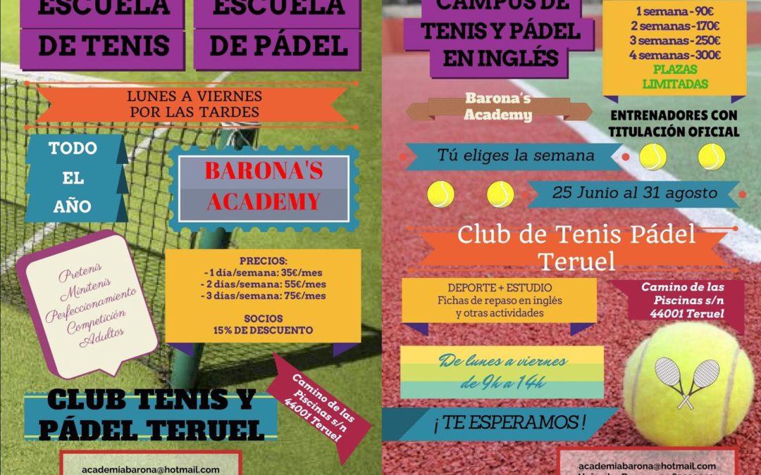 Para los amantes del Tenis y Padel