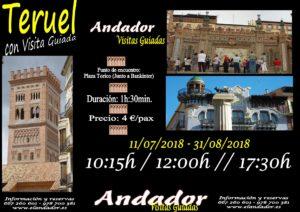 TERUEL VISITA GUIADA 11.07-31.08.2018