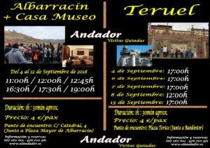 ALBARRACIN Y TERUEL DE VISITA GUIADA 4-12.09.2018