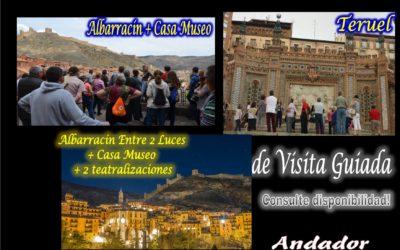 Fin de semana variado! : Todos los días, Albarracín…el 2, Albarracín Entre 2 Luces….y el 2 y 3, Teruel de Visita Guiada!