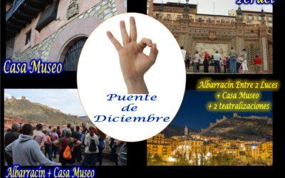 """En el PUENTE DE DICIEMBRE: Albarracín, Albarracín """"Entre 2 Luces"""", Teruel…te esperamos!"""