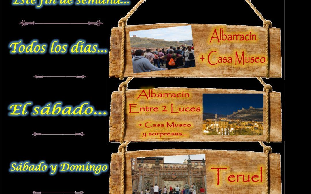 Este fin de semana…Albarracín y Teruel guiados…el sábado por la tarde…Albarracín Entre 2 Luces con sorpresas!