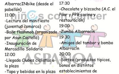 Que nadie falte! #Mercadillo #Solidario #ASPANOA en #Albarracín el 13 de Abril