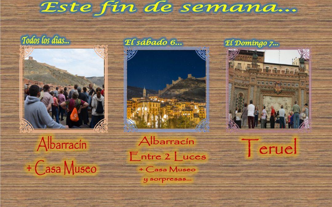 Este fin de semana…Albarracín y Teruel….Albarracín Entre 2 Luces el Sábado… Te esperamos!