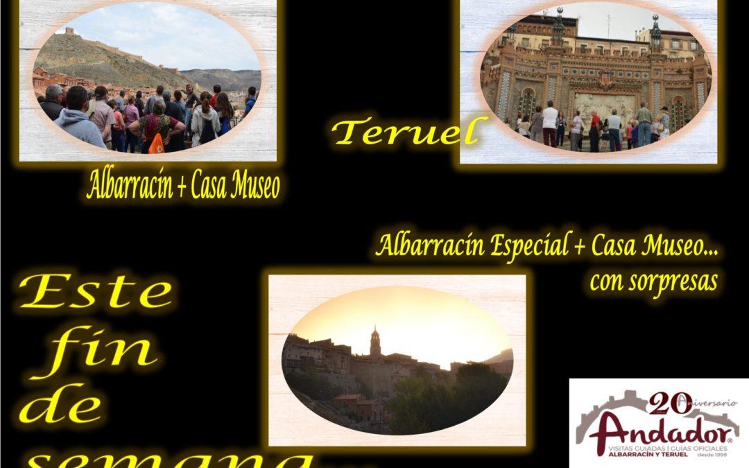 Este fin de semana…Albarracín todos los días, el Domingo Teruel…y el Sábado por la tarde….Albarracín Especial con sorpresas!