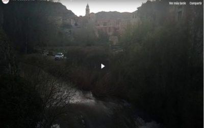 #Espectacular #Crecida del #RioGuadalaviar en #Albarracín… de #VisitaGuiada en #Albarracín con ANDADOR Visitas Guiadas