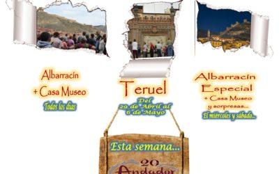 Esta semana…Albarracín y Teruel….el 1 y 4 de Mayo…Albarracín Especial con sorpresas!