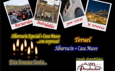 Horarios especial Semana Santa de visitas guiadas en Albarracín, Teruel y Albarracín Especial….con sorpresas!