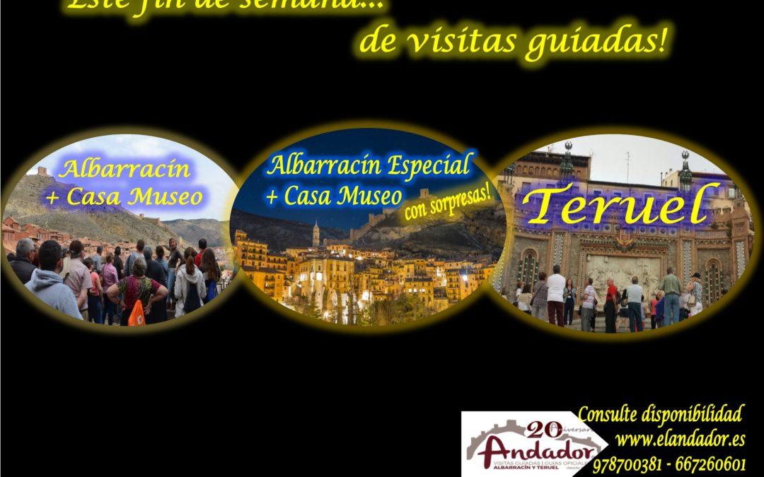 Este fin de semana…de visita guiada en Albarracín, Teruel y…el sábado por la tarde, Albarracín Especial! Te esperamos!