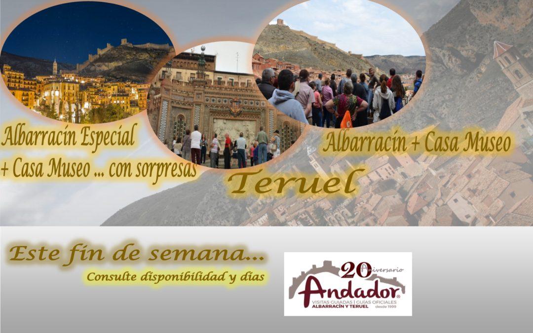Este fin de semana…Albarracín, todos los días, Teruel el Domingo…y el Sábado por la tarde…Albarracín Especial con sorpresas!