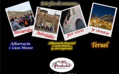 Este fin de semana…Albarracín, Teruel el Domingo…el Sábado por la tarde…Albarracín Especial con sorpresas!