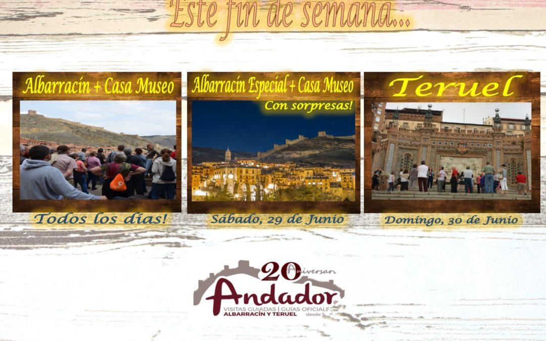 Planes para fin de semana: Visitas Guiadas Albarracín, todos los días; Teruel el domingo; y Albarracín Especial…Sábado por la tarde con sorpresas!