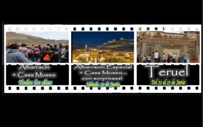 Este fin de semana…Albarracín de visita todos los días, Teruel de visita del 22 al 25…y Albarracín Especial el Sábado por la tarde…son sorpresas!