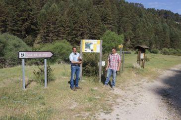 Noticia Diario de Teruel: Frías y Calomarde ultiman el recorrido circular alternativo del cañón del río Blanco