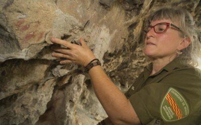 Noticia Heraldo de Aragón: Encuentran unas pinturas rupestres en una pared rocosa de la foz de Sigüés