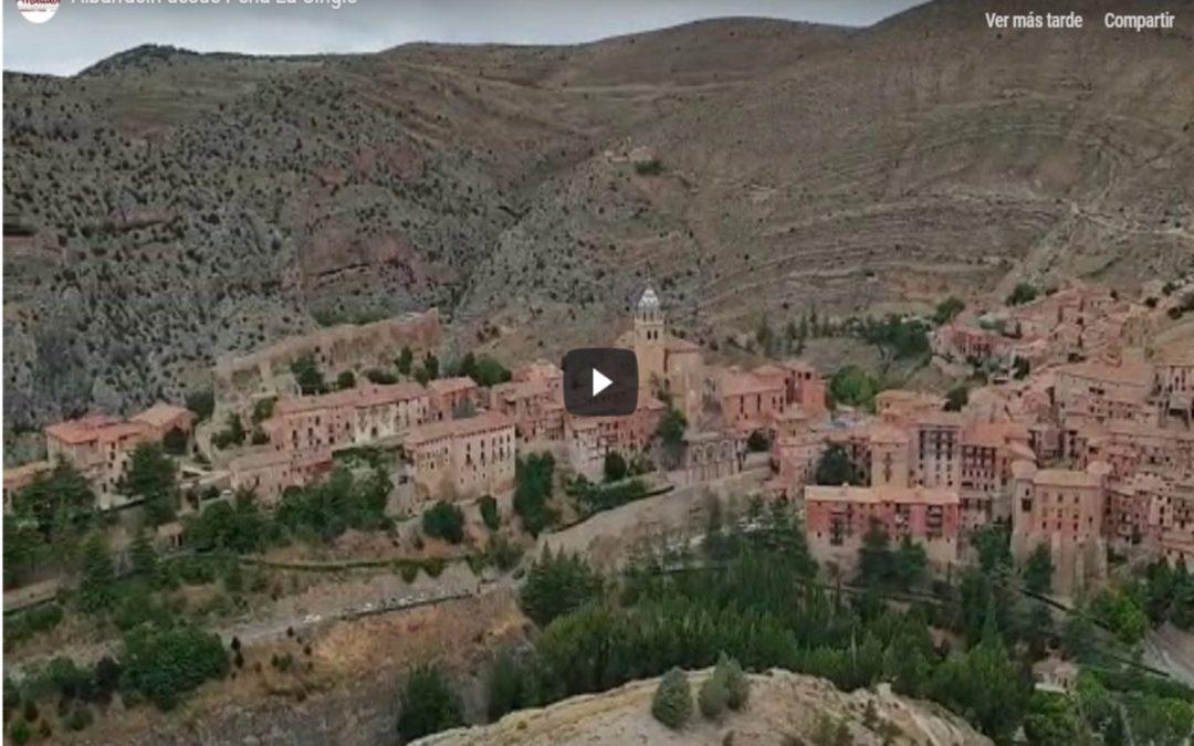#Albarracín desde Peña La Cingle…fantástico vídeo enviado por unos amig@s…GRACIAS!