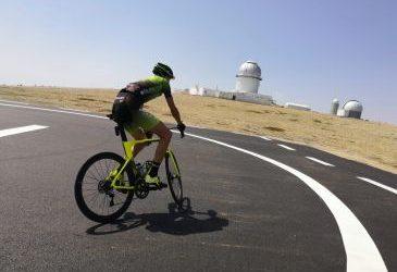 Noticia Diario de Teruel: El Observatorio Astrofísico de Javalambre se estrena este miércoles como llegada de la Vuelta Ciclista a España