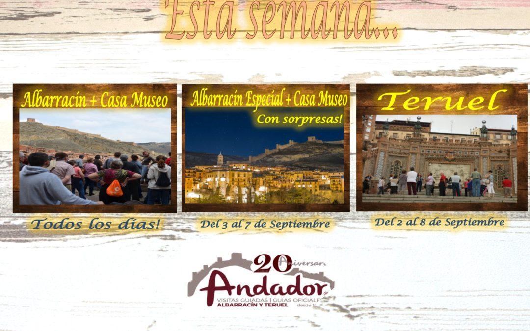 Esta semana…Albarracín, Albarracín Nocturno y Teruel…consulte días y disponibilidad!