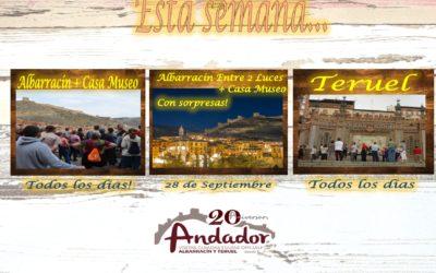 Esta semana…Albarracín y Teruel todos los días…y el Sábado 28…Albarracín Entre 2 Luces! Le esperamos!