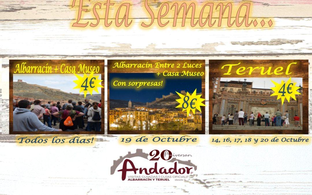 Esta semana…visitas guiadas en Albarracín y Teruel…y el sábado, Albarracín Entre 2 Luces…consulte disponibilidad