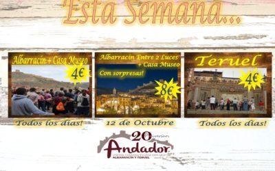 Esta semana…Albarracín y Teruel todos los días…Albarracín Entre 2 Luces…el 12 de Octubre!