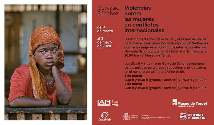"""Noticia Eco de Teruel: La exposición """"Violencias contra las mujeres en conflictos internacionales"""" ,de Gervasio Sánchez ,en el Museo de Teruel"""