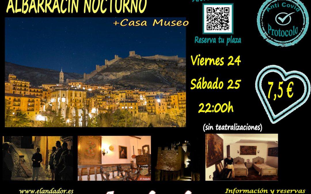 Este Viernes 24 y Sábado 25…tu visita de Albarracín Nocturna!