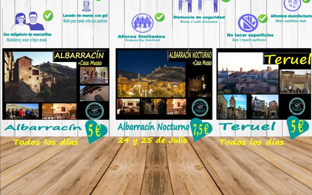 Este fin de semana…Albarracín, Teruel y Albarracín Nocturno + Casa Museo…aforos reducidos! No te lo pierdas!