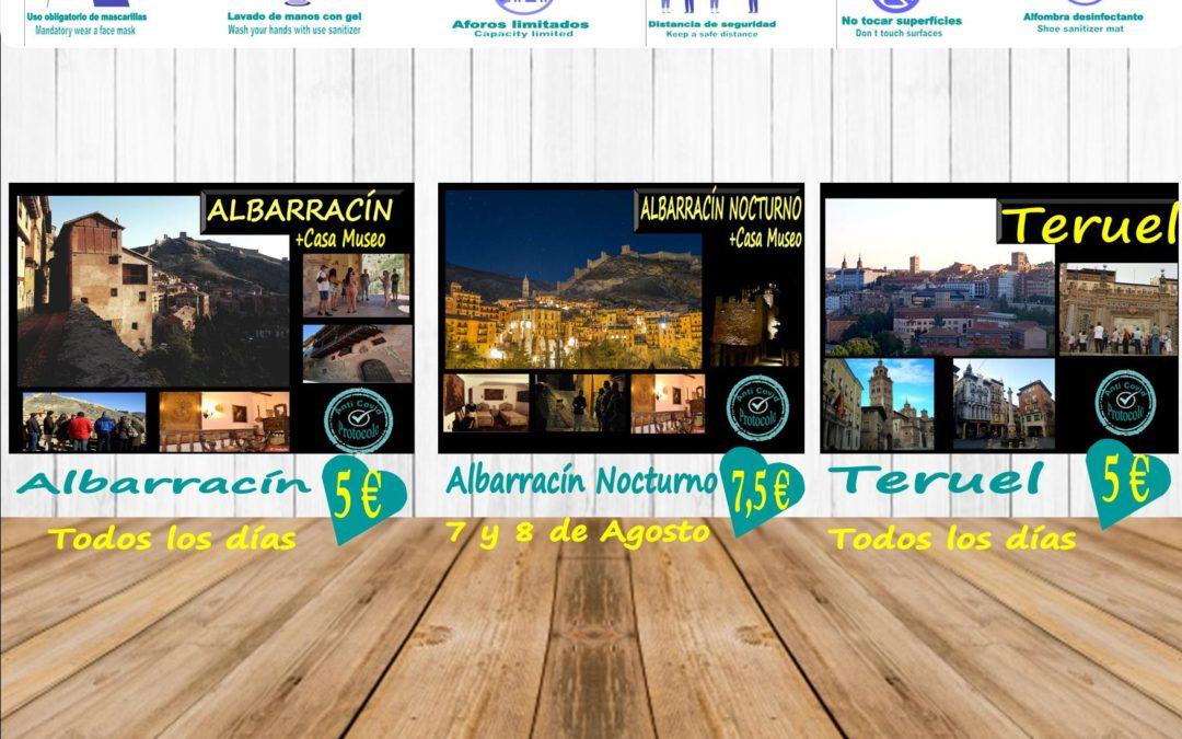 Esta semana…Albarracín, Teruel todos los días…y viernes y sábado…Albarracín Nocturno + Casa Museo!
